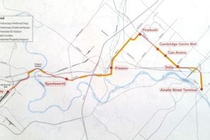 LRT map to Cambridge