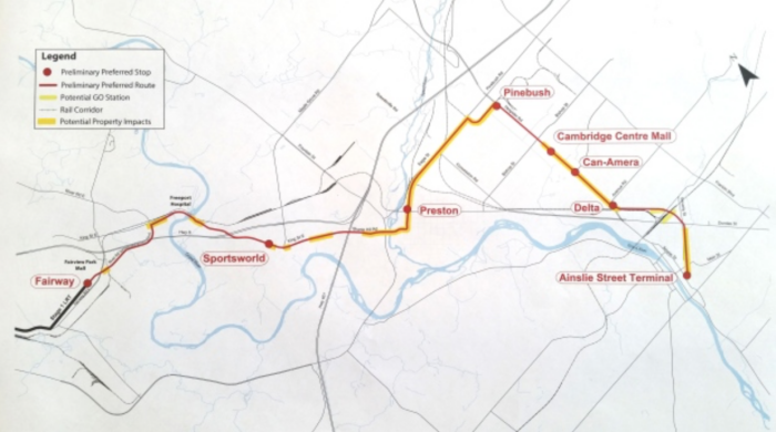 LRT map to Cambridge