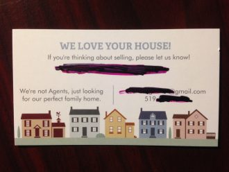 We want to buy your house