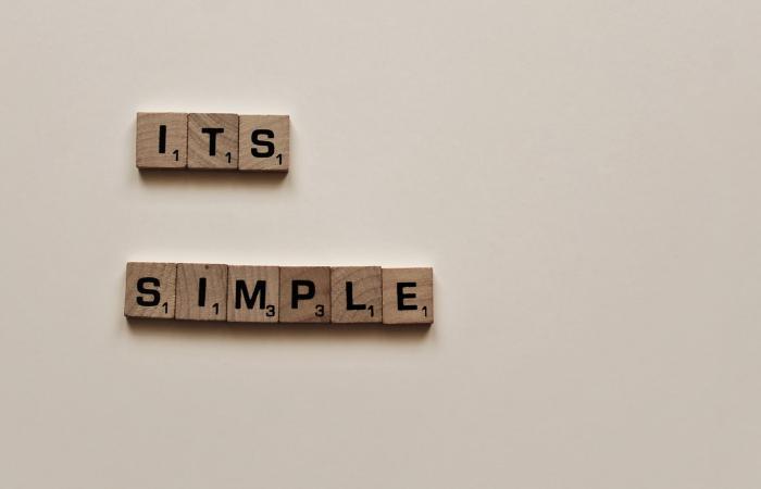 It's simple